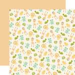 Carta Bella Paper - It's a Boy Collection - 12 x 12 Double Sided Paper - Play Time Animals