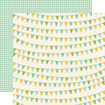 Carta Bella Paper - It's a Boy Collection - 12 x 12 Double Sided Paper - Baby Boy Onesies