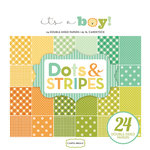 Carta Bella Paper - Dots and Stripes Collection - 6 x 6 Paper Pad - It's a Boy