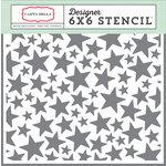 Carta Bella Paper - It's a Boy Collection - 6 x 6 Stencil - Stars