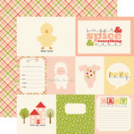 Carta Bella Paper - It's a Girl Collection - 12 x 12 Double Sided Paper - Journaling Cards