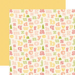 Carta Bella Paper - It's a Girl Collection - 12 x 12 Double Sided Paper - Alphabet