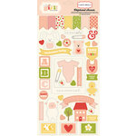 Carta Bella Paper - It's a Girl Collection - Chipboard Stickers