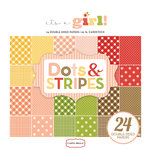 Carta Bella Paper - Dots and Stripes Collection - 6 x 6 Paper Pad - It's a Girl