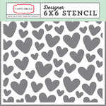 Carta Bella Paper - It's a Girl Collection - 6 x 6 Stencil - Hearts