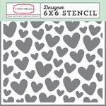 Carta Bella Paper - It's a Girl Collection - 6 x 6 Stencil - Hearts