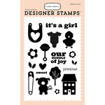 Carta Bella Paper - It's a Girl Collection - Clear Acrylic Stamps - Precious Girl