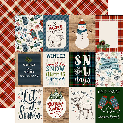 Carta Bella Paper - Let it Snow Collection - 12 x 12 Double Sided Paper - 3 x 4 Journaling Cards