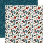 Carta Bella Paper - Let it Snow Collection - 12 x 12 Double Sided Paper - Smitten For Mittens