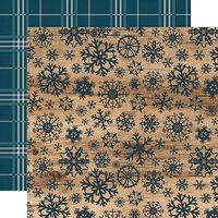 Carta Bella Paper - Let it Snow Collection - 12 x 12 Double Sided Paper - Swirling Snowflakes