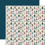 Carta Bella Paper - Let it Snow Collection - 12 x 12 Double Sided Paper - Pretty Pines