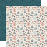 Carta Bella Paper - Let it Snow Collection - 12 x 12 Double Sided Paper - Whirling Snowflakes