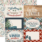 Carta Bella Paper - Let it Snow Collection - 12 x 12 Double Sided Paper - 4 x 6 Journaling Cards