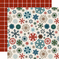 Carta Bella Paper - Let it Snow Collection - 12 x 12 Double Sided Paper - Glistening Snowflakes