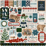 Carta Bella Paper - Let it Snow Collection - 12 x 12 Cardstock Stickers