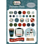 Carta Bella Paper - Let it Snow Collection - Decorative Brads