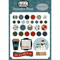 Carta Bella Paper - Let it Snow Collection - Decorative Brads