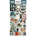 Carta Bella Paper - Let it Snow Collection - Chipboard Stickers - Accents