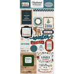 Carta Bella Paper - Let it Snow Collection - Chipboard Stickers - Phrases