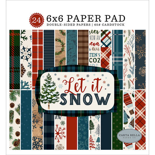 Carta Bella Paper - Let it Snow Collection - 6 x 6 Paper Pad