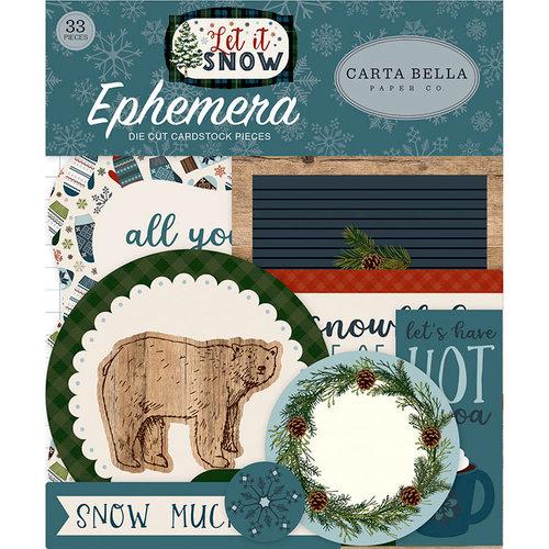 Carta Bella Paper - Let it Snow Collection - Ephemera