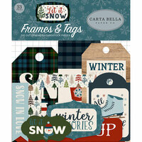 Carta Bella Paper - Let it Snow Collection - Ephemera - Frames and Tags