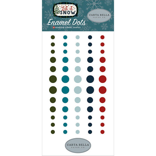Carta Bella Paper - Let it Snow Collection - Enamel Dots