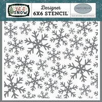 Carta Bella Paper - Let it Snow Collection - 6 x 6 Stencil - Frosted Window Panes