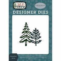 Carta Bella Paper - Let it Snow Collection - Designer Dies - Snowy Pines