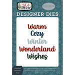 Carta Bella Paper - Let it Snow Collection - Designer Dies - Wonderland Wishes Word
