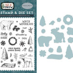 Carta Bella Paper - Let it Snow Collection - Designer Die and Clear Acrylic Stamp Set - Cold Hands, Warm Heart