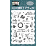 Carta Bella Paper - Let it Snow Collection - Clear Acrylic Stamps - Cold Hands, Warm Heart