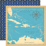Carta Bella Paper - Let's Cruise Collection - 12 x 12 Double Sided Paper - Atlantic Ocean