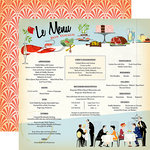Carta Bella Paper - Let's Cruise Collection - 12 x 12 Double Sided Paper - Le Menu