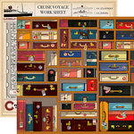 Carta Bella Paper - Let's Cruise Collection - 12 x 12 Double Sided Paper - Baggage