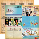Carta Bella Paper - Let's Cruise Collection - 12 x 12 Double Sided Paper - 4 x 6 Journaling Cards