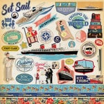 Carta Bella Paper - Let's Cruise Collection - 12 x 12 Cardstock Stickers