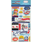 Carta Bella Paper - Let's Cruise Collection - Chipboard Stickers
