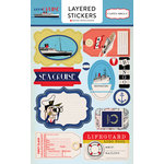 Carta Bella Paper - Let's Cruise Collection - Layered Cardstock Stickers