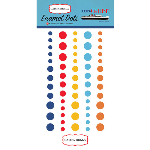 Carta Bella Paper - Let's Cruise Collection - Enamel Dots
