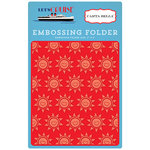Carta Bella Paper - Let's Cruise Collection - Embossing Folder - Smiling Sunshine
