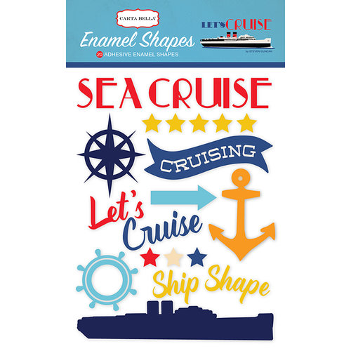 Carta Bella Paper - Let's Cruise Collection - Enamel Shapes
