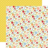 Carta Bella Paper - Farmhouse Living Collection - 12 x 12 Double Sided Paper - Fresh Flowers