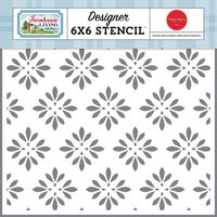 Carta Bella Paper - Farmhouse Living Collection - 6 x 6 Stencils - Country Floral