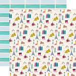 Carta Bella Paper - Let's Travel Collection - 12 x 12 Double Sided Paper - Landmarks
