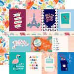 Carta Bella Paper - Let's Travel Collection - 12 x 12 Double Sided Paper - 3 x 4 Journaling Cards