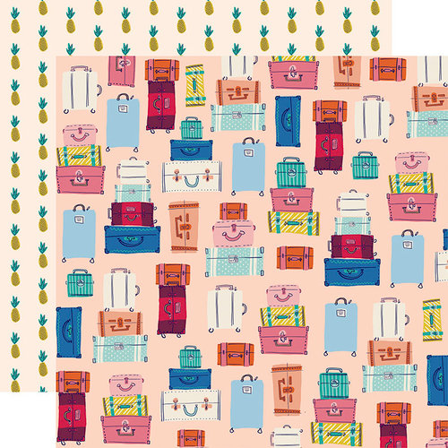 Carta Bella Paper - Let's Travel Collection - 12 x 12 Double Sided Paper - Bon Voyage