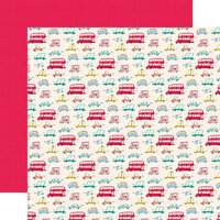 Carta Bella Paper - Let's Travel Collection - 12 x 12 Double Sided Paper - Tourist Class