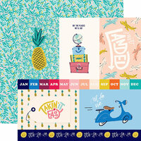 Carta Bella Paper - Let's Travel Collection - 12 x 12 Double Sided Paper - 4 x 6 Journaling Cards