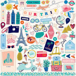 Carta Bella Paper - Let's Travel Collection - 12 x 12 Cardstock Stickers - Elements